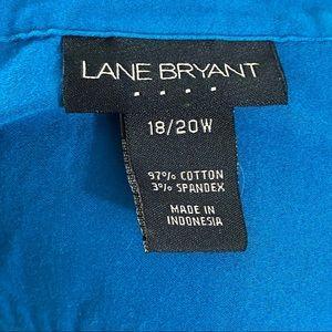 Lane Bryant Tops - Lane Bryant Button Down Blue Size 18/20W